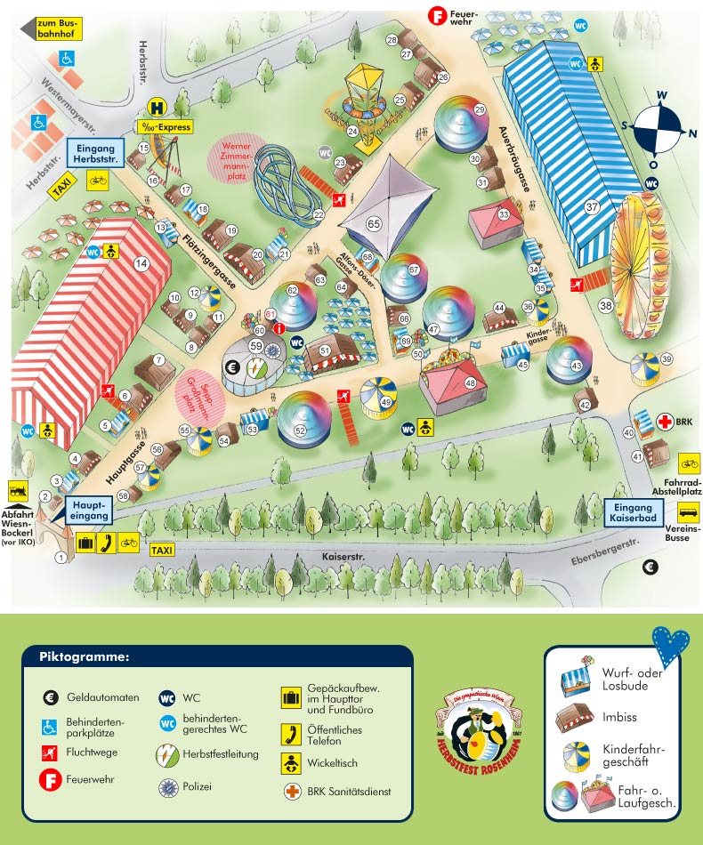 piantina della Rosenheimer Herbstfest